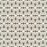 Outline seamless pattern with abstract ornament. Ethnic motif. Repeated geometric figures wallpaper. Modern surface Stock Photo
