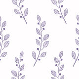 Outline seamless pattern background with branch Royalty Free Stock Images