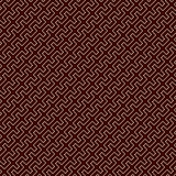 Outline seamless pattern with battlement curved lines on dark background. Repeated geometric figures wallpaper. Stock Photo