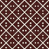Outline seamless pattern with diagonal lines and geometric figures. Ethnic wallpaper. Grid background. Royalty Free Stock Image