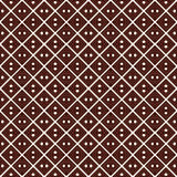 Outline seamless pattern with diagonal lines and geometric figures. Ethnic wallpaper. Grid background. Royalty Free Stock Photos