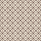 Outline seamless pattern with diagonal lines and geometric figures. Ethnic wallpaper. Grid background. Stock Photo