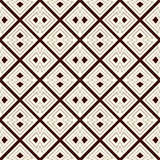 Outline seamless pattern with diagonal lines and geometric figures. Ethnic wallpaper.  Royalty Free Stock Images