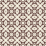 Outline seamless pattern with floral motif. Ornamental abstract background. Ethnic and tribal print. Royalty Free Stock Images