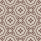 Outline seamless pattern with floral motif. Ornamental abstract background. Ethnic and tribal print. Royalty Free Stock Photography