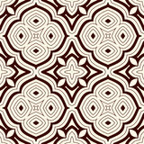 Outline seamless pattern with floral motif. Ornamental abstract background. Ethnic and tribal print. Stock Image