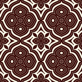 Outline seamless pattern with floral motif. Ornamental abstract background. Ethnic and tribal print. Stock Photos