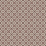 Outline seamless pattern with geometric figures. Ethnic wallpaper. Repeated ovals  Stock Photo