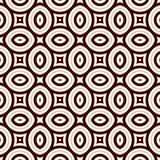 Outline seamless pattern with geometric figures. Ethnic wallpaper. Repeated ovals ornamental background Royalty Free Stock Photo