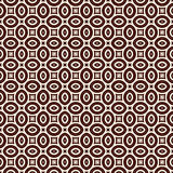 Outline seamless pattern with geometric figures. Ethnic wallpaper. Repeated ovals ornamental background Stock Photos