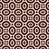 Outline seamless pattern with geometric figures. Ethnic wallpaper. Repeated ovals ornamental background Stock Images