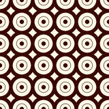 Outline seamless pattern with geometric figures. Repeated circles ornamental abstract background. Royalty Free Stock Photography