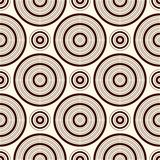 Outline seamless pattern with geometric figures. Repeated circles ornamental background. Modern motif. Stock Photography