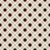 Outline seamless pattern with geometric figures. Repeated diagonal square chain abstract background. Modern style Royalty Free Stock Images