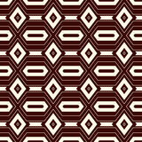 Outline seamless pattern with geometric figures. Repeated diamond abstract background. Ethnic and tribal motif. Outline seamless pattern with geometric figures Stock Photography