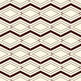Outline seamless pattern with geometric figures. Repeated diamond ornamental background. Rhombuses and lines motif. Royalty Free Stock Image