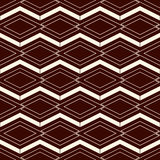 Outline seamless pattern with geometric figures. Repeated diamond ornamental background. Rhombuses and lines motif. Stock Photo