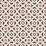 Outline seamless pattern with geometric figures. Repeated squares and rhombuses ornamental abstract background. Royalty Free Stock Photography
