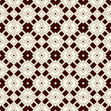 Outline seamless pattern with geometric figures. Repeated squares and rhombuses ornamental abstract background. Royalty Free Stock Photos