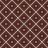 Outline seamless pattern with geometric figures. Repeated squares and rhombuses ornamental abstract background. Royalty Free Stock Photo