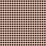Outline seamless pattern with horizontal lines and circles. Strings of beads motif. Minimalist geometric background. Royalty Free Stock Photos