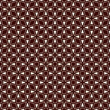 Outline seamless pattern with stylized repeating stars. Simple geometric ornament. Modern stylish texture. Stock Images