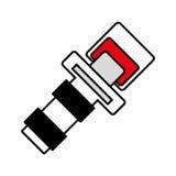 Outline seat belt drive safe sign Stock Image