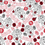 Outline sheep ,christmas decor Seamless pattern. Seamless pattern with sheep ,christmas decor,letter 2015 .Symbol 2015 year of sheep.Use for fabric,Wallpaper Stock Photography
