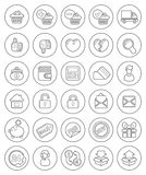 Outline Shopping Icons Royalty Free Stock Photography