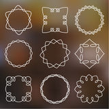 Outline simple frames Stock Image