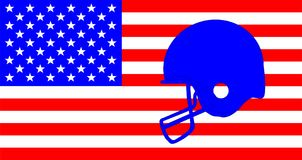 Football Helmet On The Stars And Stripes Royalty Free Stock Photo