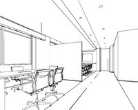 Outline sketch of a interior Stock Image