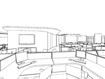 Outline sketch of a interior Stock Photo