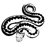 Outline snake vector image. Stock Images