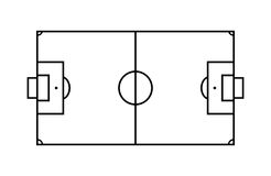 Outline Soccer Field. Stock Photography