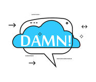 Outline speech bubble with Dawn! phrase Stock Photography