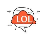 Outline speech bubble with Lol phrase Royalty Free Stock Images