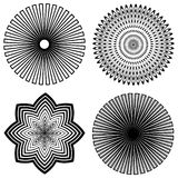 Outline Spirals stock illustration