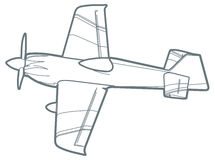 outline sport plane. Royalty Free Stock Photo