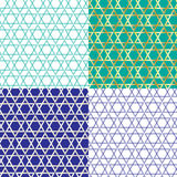 Outline star of david pattern Royalty Free Stock Photography