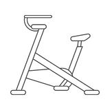 Outline stationary bicycle machine gym sport Royalty Free Stock Photography