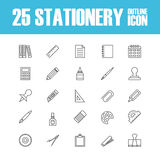Outline stationery icon Stock Photo