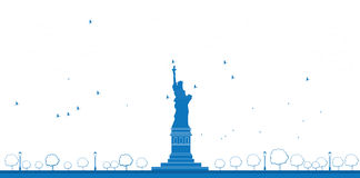 Outline Statue of Liberty New York royalty free illustration