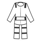 Outline suit uniform worker protective Royalty Free Stock Photo