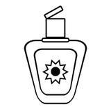 Outline sun blocker cream protection solar beach Royalty Free Stock Image