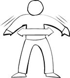 Outline Symbol of Fit Person Stock Image