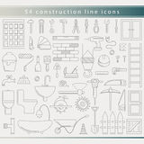 Outline thin line construction icons Stock Photo