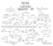 Outline transport set Royalty Free Stock Photos