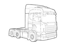 Outline truck Stock Photography