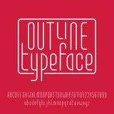 Outline typeface. Modern line alphabet. Royalty Free Stock Image